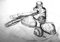 Muscheln auf dem Schreibtisch