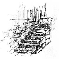 Treppe au dem Jakobsweg (aus Tagebuch)