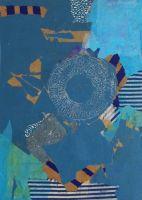 Bild blau mit Stempel