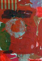 Bild rot mit Stempel